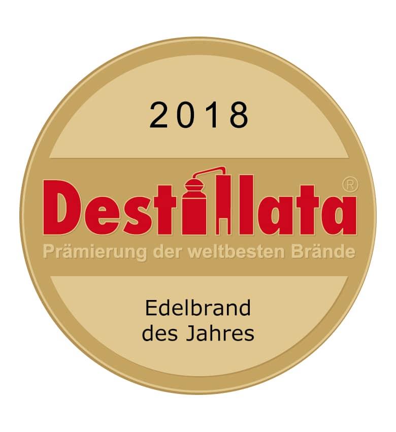 Destillata 2018 Edelbrand des Jahres